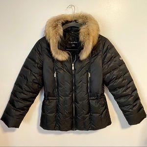 1 Madison Fur Collar Down Puffer Coat Small